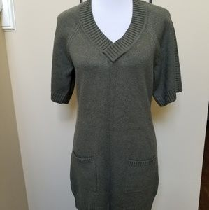 Banana Republic olive green small sweater dress